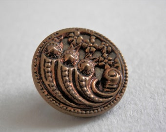 Ornate Vintage Metal Button Pierced Background