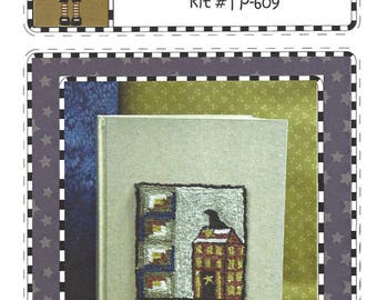 The Teachers Pet - Summer Journal - Punchneedle Design on Weavers Cloth - Blank Journal - Pattern Instructions