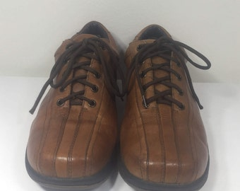 London Underground Men's 10.5, Brown Leather Shoes