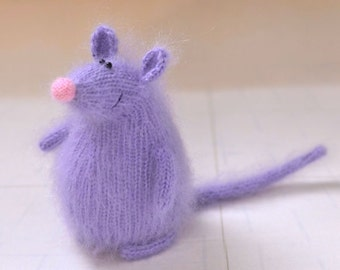 Purple mouse cat toy