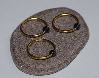 Discreet Silver Nose Ring Gold nose ring Nose Hoop endless nose ring endless nose hoop silver nose stud thin nose ring body jewellery