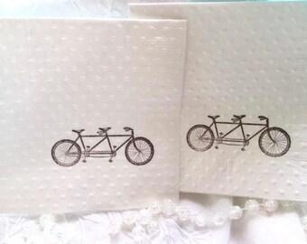 bicycle napkins wedding napkins bicycle party bicycle theme bridal shower napkins birthday napkins tandem bike bicycle for two