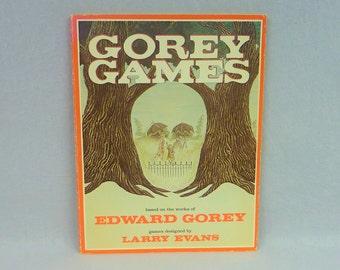1979 Gorey Games - Edward Gorey - Larry Evans - Gorey Illustrated Puzzles - Vintage 1970s Book