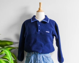 90's Patagonia Blue Fleece Pullover Sweatshirt (Kids)