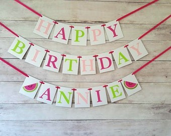One In A Melon Party Decorations, Watermelon Birthday Banner, Watermelon Birthday Decorations, One In A Melon Birthday, Watermelon Birthday