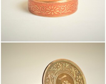 Bronze Ring, Dusky Rose Ring, Japanese Ring, Coin Ring, Japanese Coin, Japanese Jewelry, Coin Rings, Japanese, Coin Art, Japanese Coin Ring