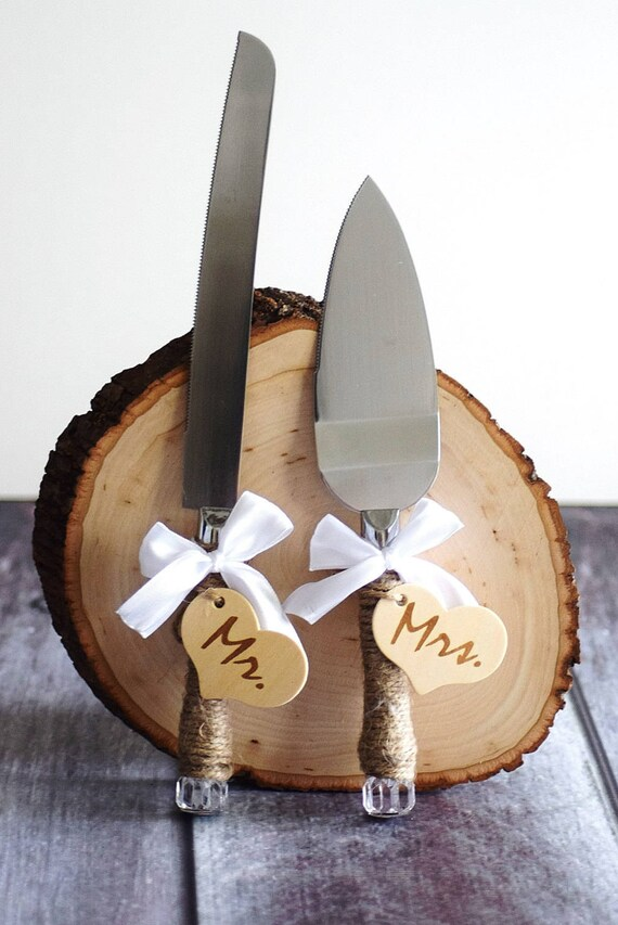 rustic wedding cake knives rustic wedding cake knife customized wedding cake serving set 19544