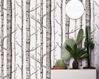 Birch Forest Removable Peel 'n Stick Wallpaper