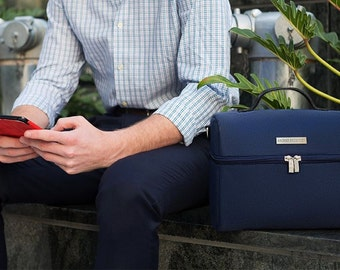 Lunch Bag Insulated, Adult Lunch Box, Leather Lunch Bag for Men With Shoulder Strap. Large Lunch Bags, Mens Gifts by Archer Brighton.