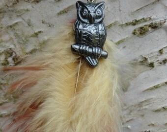 Keychain OWL hematite