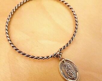 Virgen de Guadalupe Bangle Bracelet