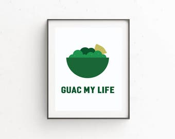 Funny Home Decor Kitchen Print Art Food Dining