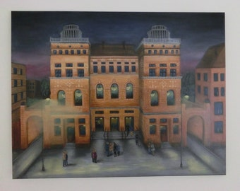 "oil painting ""Big House"" cm 60 x 75 New Price Euro 350.00"