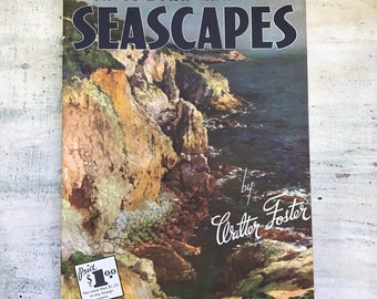 How to Draw and Paint Seascapes by Walter Foster, Midcentury Art Book