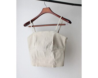 1990s Beige Cropped Camisole