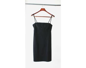 1990's Black Minimal Camisole Dress