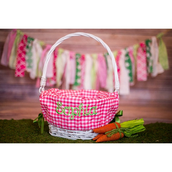 Personalized Easter Basket Liner Personalized Basket Liner