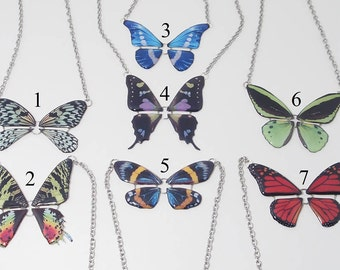 Butterfly Resin Necklaces