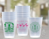 Personalized Cups | Monogram Cups | Plastic Party Cups | Personalized Plastic Cups | Pineapple Cups | Tropical Cups