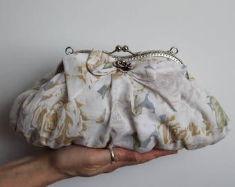 Floral Purse, Floral Clutch, Floral Bridal Purse (Lily D.)