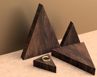 Set of four triangular display risers, bracelet display, ring display, craft show display