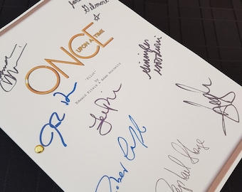 Once Upon a Time TV Script with Signatures/Autographs Reprint OUAT