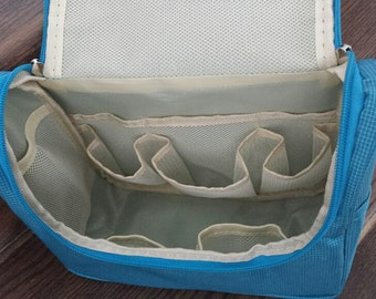 Travel Organizer, Waterproof Toiletries Bag, Nylon Cosmetic Bag__BLUE