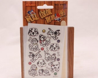 Vintage Art Lover Full Color Rub On Transfers Package. Dalmatian
