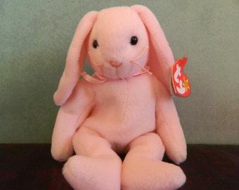 "TY Pink Bunny Rabbit Beanie Baby ""Hoppity"" (B)"