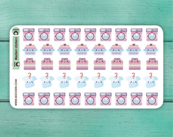 42 Laundry Stickers / Planner Stickers