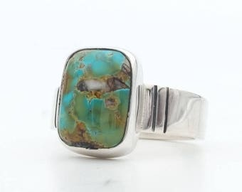 Turquoise Ring, Thunder Mountain Turquoise, Silver Ring, Sterling Silver Turquoise Ring, Turquoise Jewelry, Handmade Ring, Southwestern Ring