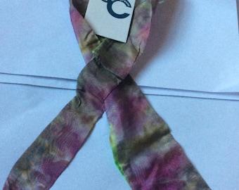 Neck scarf tie dye silk