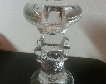 Pair of Staffan Gellerstedt Pukeberg glass candleholder
