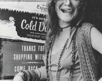 Janis Joplin  B/W Rare Poster