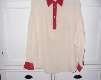 RODIER size S - vintage 1980's silk blouse