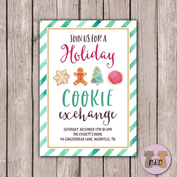 Cookie Exchange Holiday Party Invite