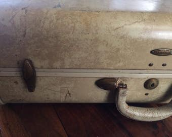 Vintage Samsonite Hard Sided Marbled Suitcase/Luggage Shwayder Bros.