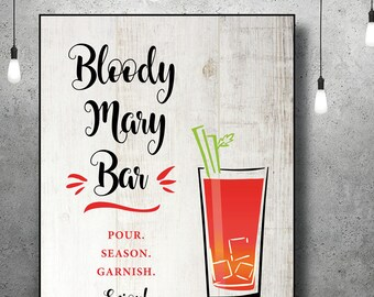 Bloody Mary Bar | Bloody Mary Bar Sign | Bridal Shower | Bar Sign | Instant Download | Rustic Bridal Shower | Brunch | Rustic Wedding