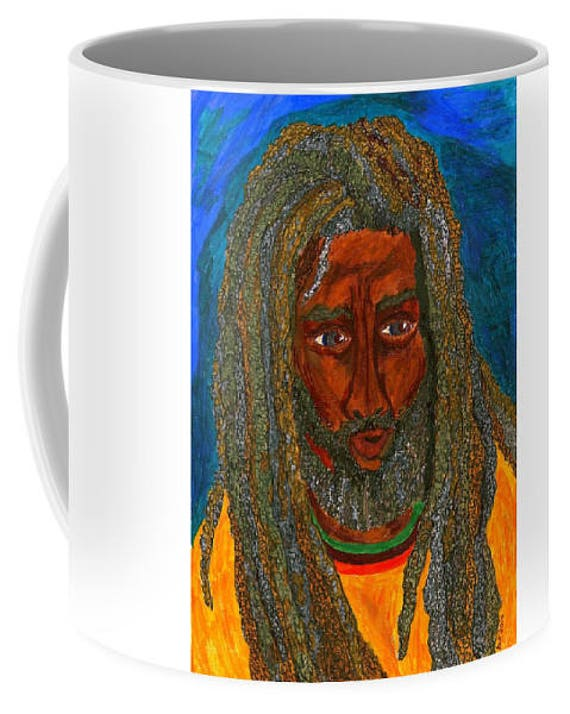 Ceramic Mug, from my original 2014 painting, SALOMAO 1, by Artist Stacey Torres