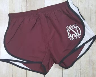 Monogrammed Running Shorts, Athletic Shorts, Monogram Shorts, Monogrammed Running Shorts, Cheer Shorts, Team Shorts, Dance Shorts