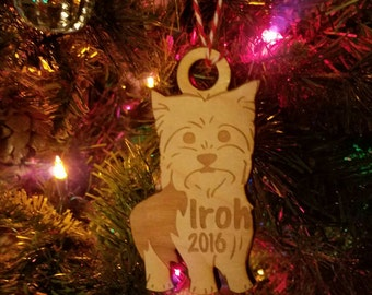 dog ornaments etsy - Dog Christmas Lights