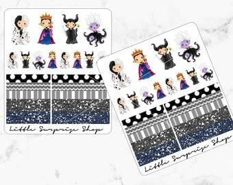Kawaii Evil Queens Stickers // KC011