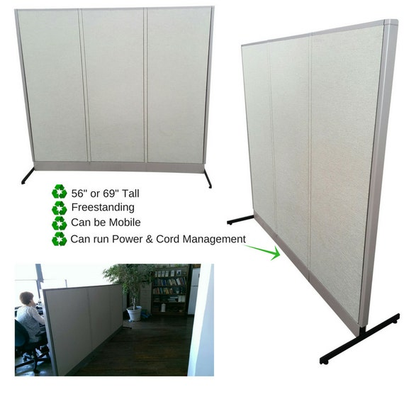 Freestanding Desk Office Partition Office Divider Wall Room