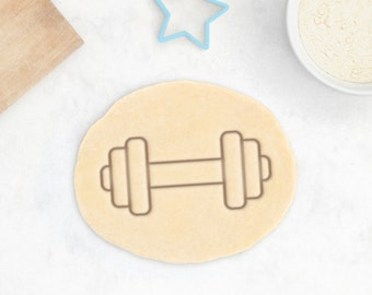Barbell Cookie Cutter - Fitness Cookie Cutter Gym Addict Sport Sports Cookie Cutter Athletic Athlete Gymnast Cutter Biceps Emoji Strong