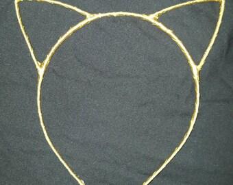 Cat ears head band - Ariana Grande - gold cat ears -  Halloween costume