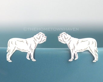 English Bulldog Earrings - Dog breed jewerly, Rescue dog studs