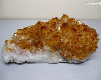 Large Brazilian Citrine Crystal Cluster 1.43kilos