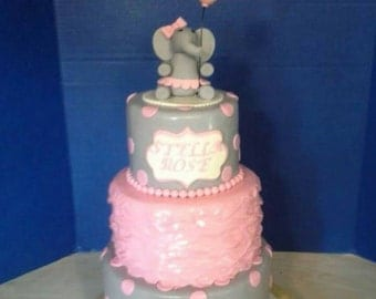Fondant Elephant and Balloon