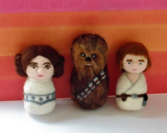 Needle Felted Star Wars Characters