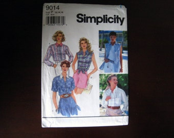 Misses' Set of Shirts – Vintage Simplicity 9014 Sewing Pattern – Size: 12